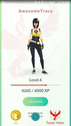 My personal Pokemon Go trainer.