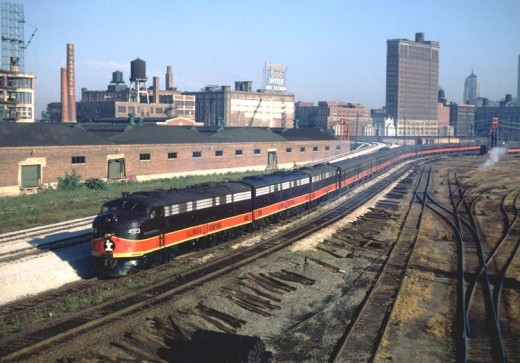 The City of New Orleans leaving Chicago in the 1960s.