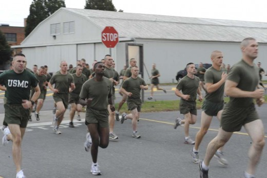 At a distance of 3 miles, the USMC has the longest endurance testing event among the U.S. Armed Forces.