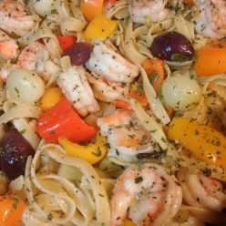 Simple Easy Delicious Shrimp Fettuccine