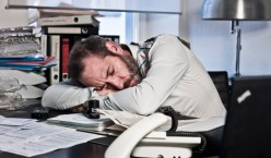 """""""Boss, it may look like I'm sleeping, but I was here all night laboring to get this report finished."""""""