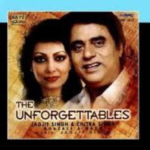 Ghazal singers and husband and wife--Jagjit Singh and Chitra Singh