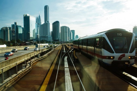 The light railway transit train (LRT) is the best way to move around Kuala Lumpur, esp. during peak hours.