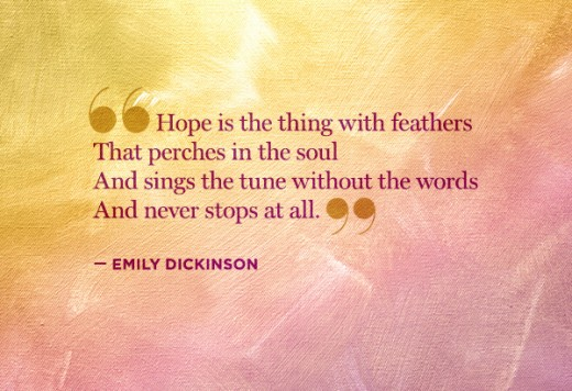 Emily Dickinson quote about hope