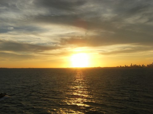 Sunset off of the Coast of Miami, Florida
