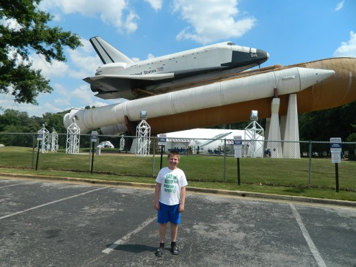 Caleb and the Space Shuttle