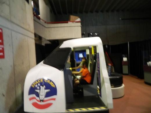 Caleb landing the Space Shuttle