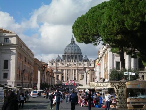 View along the Via della Concillazione to St Peter's, Rome (c) A. Harrison