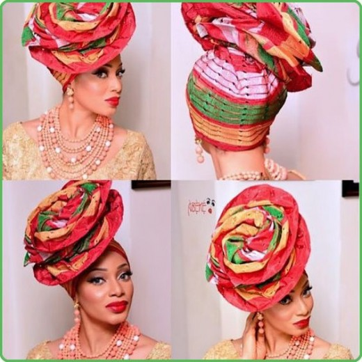 Fabulous Ascot Gele - This one is with aso-oke fabric.