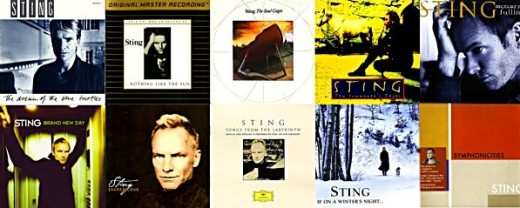 Sting's studio album discography as of 2010