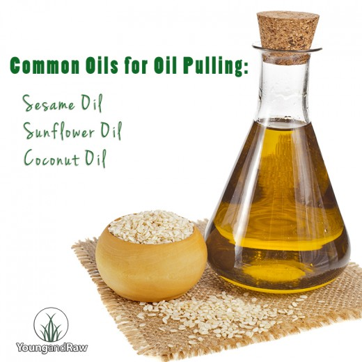 Some acceptable oils for oil pulling.