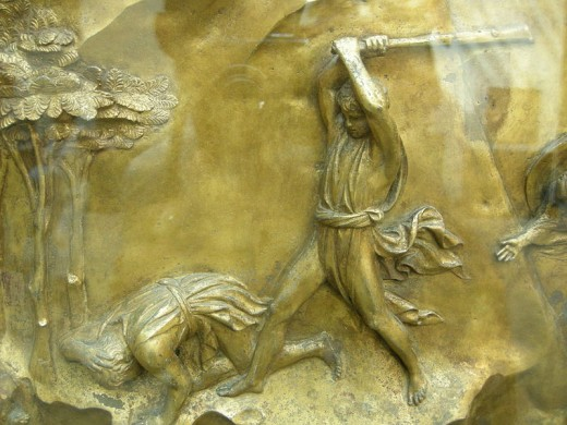 This work of art depicts Cain's attack on Abel.