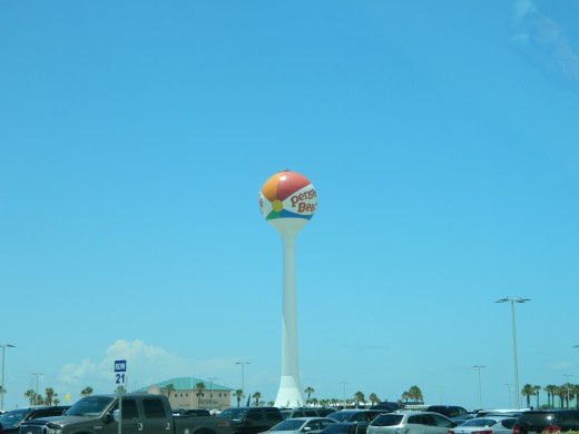 The Pensacola Beach water tower