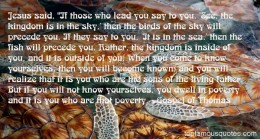What Jesus says about the Kingdom of God in the Gnostic Scrolls.