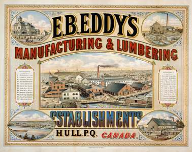 Advertisement for E. B. Eddy Match cCompany, 1884