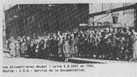 The 1924 Lockout. Group photo including Donalda Charon