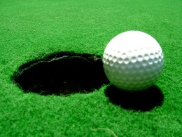 Enjoy a relaxing moment on the putting green.