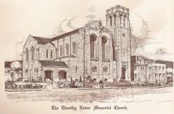 Sketch of Timothy Eaton Memorial Church, Toronto, Ontario, Canada, December 1914