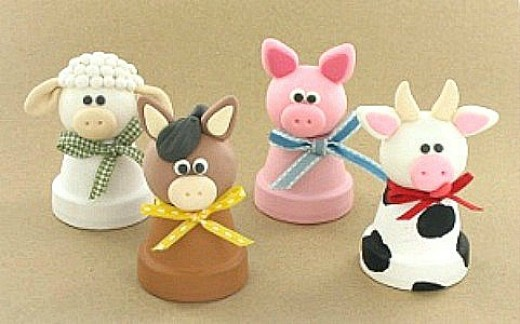 Another Outstanding Use For Clay Pots. Just Sooo Cute.....wouldnu0027t These  Look Cute In A Babyu0027s Room? Youu0027ll Come Up With Lots Of Places To Use These  Little ...