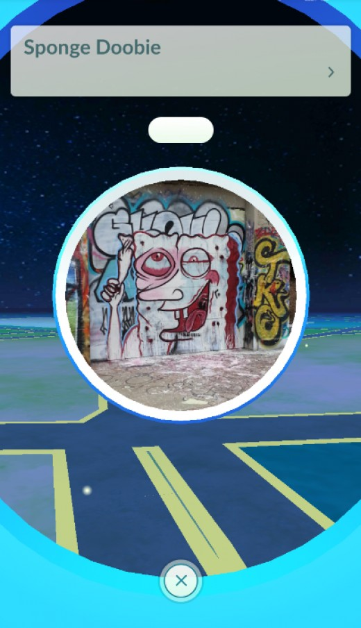 While Spongebob is not exactly kid friendly on a normal scale, given all their innuendos and such, this is clearly not a kid friendly street art and could raise eyebrows of the more conservative of players.