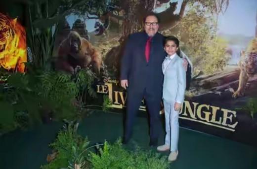 Jon Favreau with Neel Sethi
