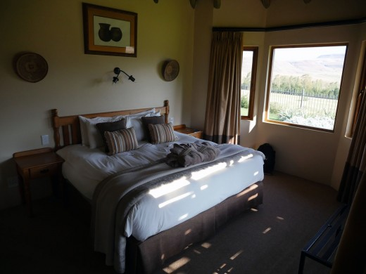 Comfortable lodge accommodation with a five-star view of the ranges. Photo: Matt Feierabend