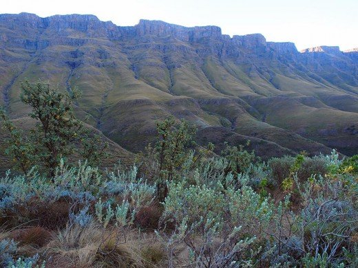 Amazing view from the Sani Pass over South Africa. Photo: Di Robinson