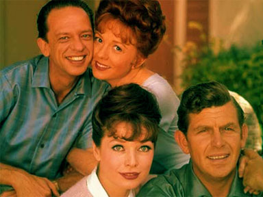 Front, Helen, Andy; Back, Barney and Thelma Lou