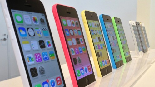 The iPhone 5C comes in a wide pallet of colors.