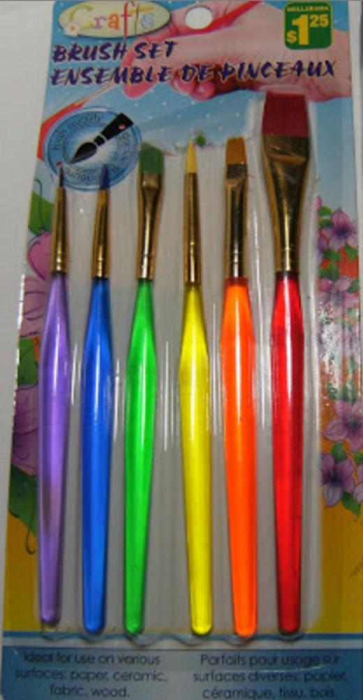 Dollarama Brushes