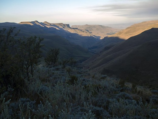 View from the Sani Pass. Photo: Di Robinson