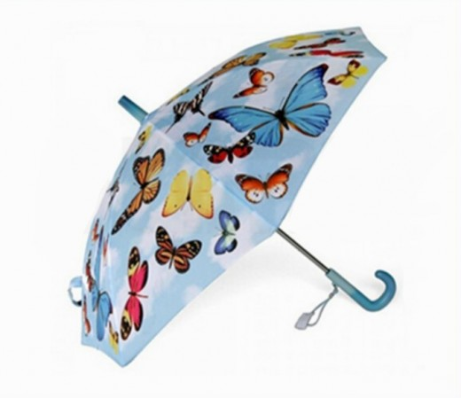 Butterfly printed automatic umbrella