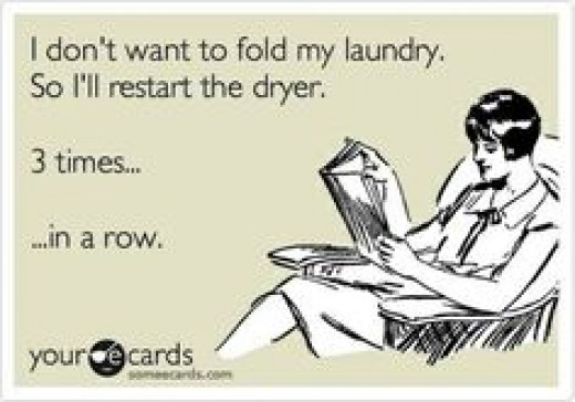 Raise your hand if you really take your laundry out on that first go around..... is it just me? Don't leave me hanging people!