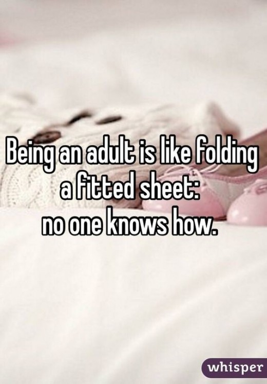 There might be a few people doing it right, but for the most part, it's all about like the worthless skill of folding anything, especially fitted sheets.