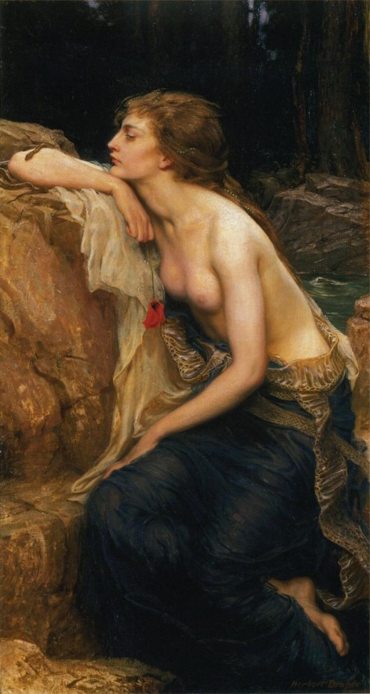 The Lamia: In this 1909 painting by Herbert James Draper