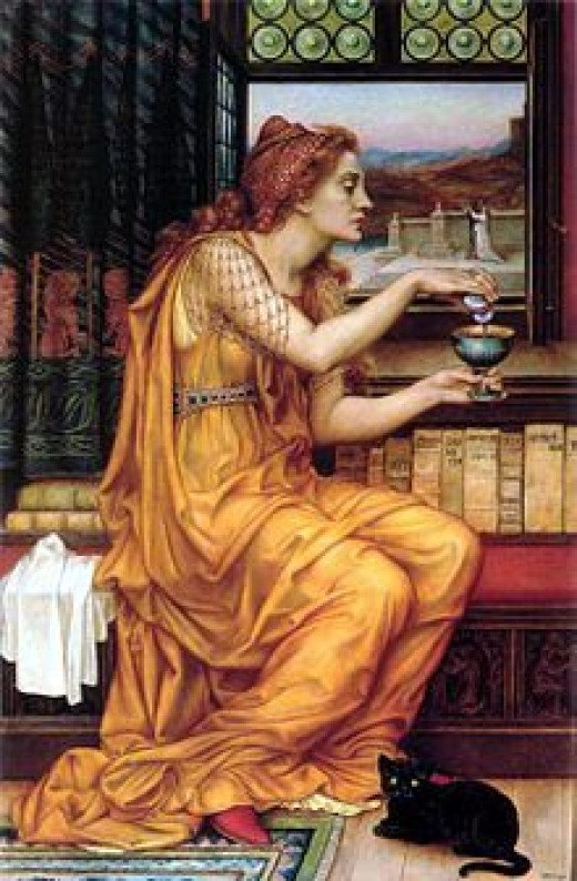 """The Love Potion"" by Evelyn De Morgan"