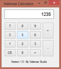 Valemax Studio - Calculator Sourcecode