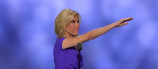 Many are critizing Laura Ingraham for the Nazi salute she appears to give at the beginning of her 2016 RNC speech in support of Donald Trump.