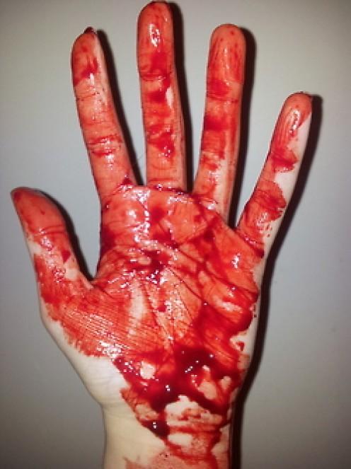 Rare photo of Louis Gene Price's hand
