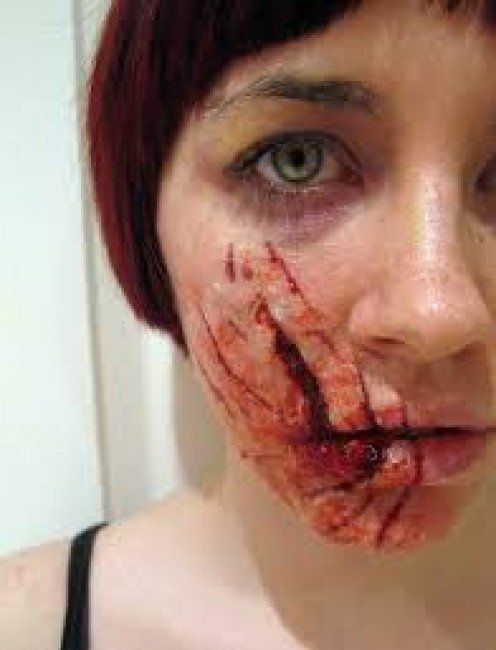 This is not Judy, Louis' wife, but an actress in make-up for a horror film