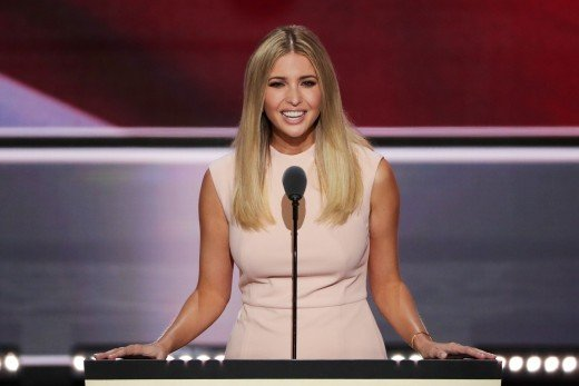 Ivanka Trump introduces her father to the Republican National Convention to accept Nomination.