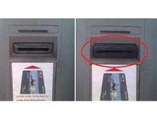 Be aware of potential scams.  One of many examples of a card skimmer.