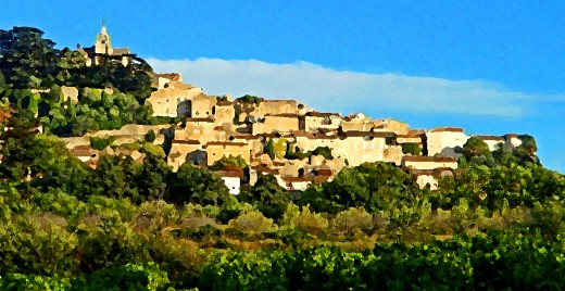 Bonnieux: one of the famous perched villages of Provence.