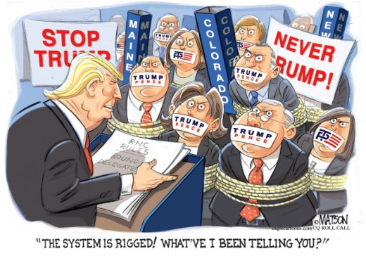 Image result for cartoons about trump and rigged vote