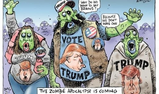 Anytime you can work zombies into your daily routine you should do it. These Trump supporting zombies are clever and totally necessary.
