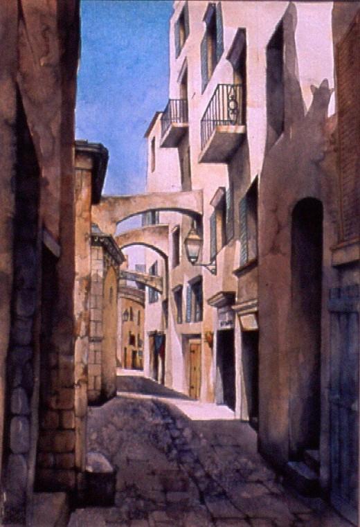 """Bonifacio"" painting by Helen Lush"