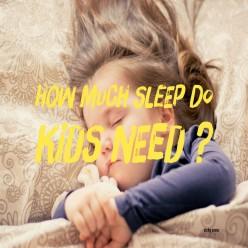 How Much Sleep Should Children Have?