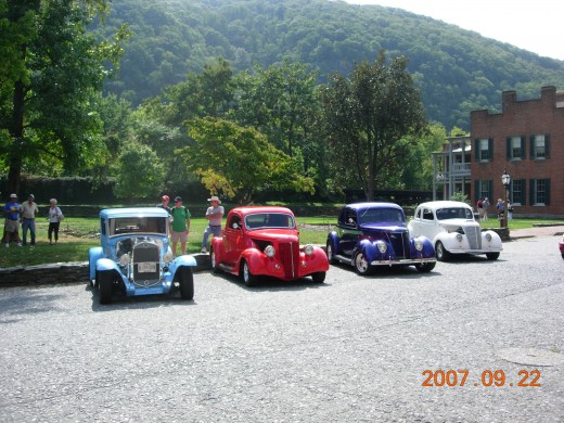 Antique Cars at Harpers Ferry 2007.