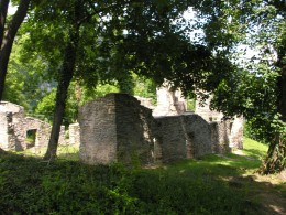 Remains of an old church.