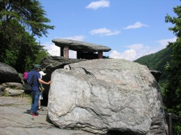 The stacked rocks in the background has been dubbed Jefferson Rock.